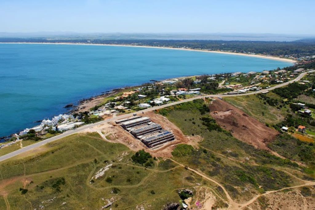 Another aerial view of Punta Ballena.