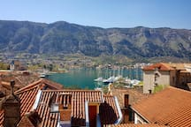 Upper Terrace: View over Kotor Bar and  rooftops of Stari Grad