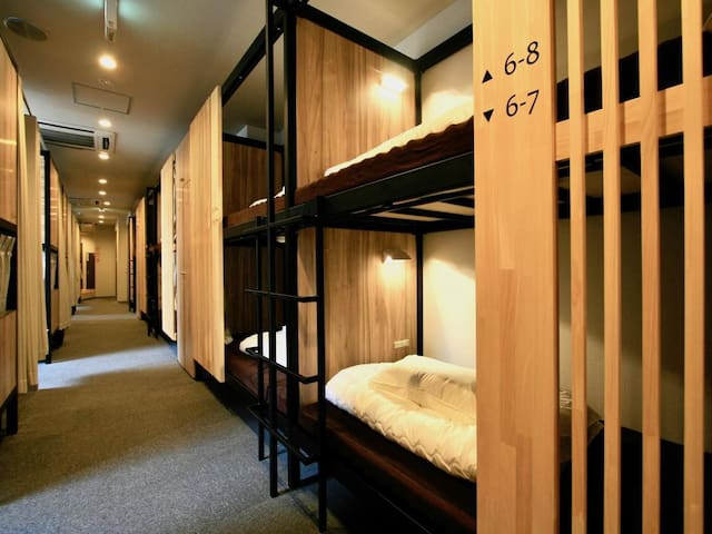 Qoo Hostel Osaka Bunk Bed in Female Dormitory Room