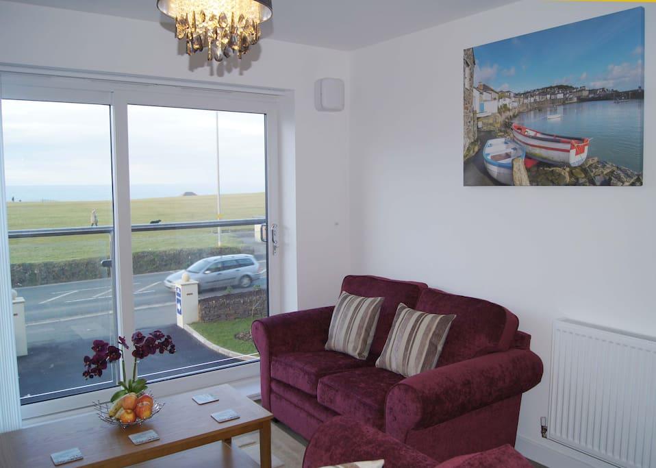 Lounge with sea views
