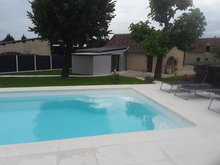 gite de campagne avec piscine