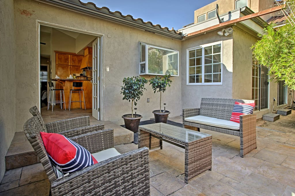 Enjoy the beautiful San Diego weather from your private courtyard.