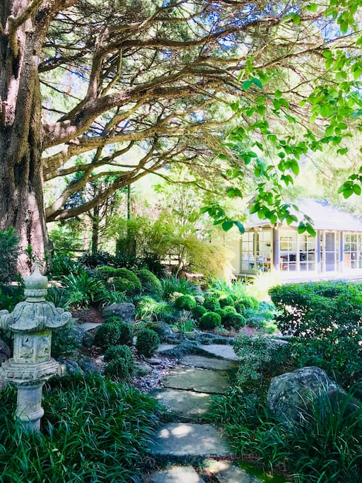 Walk through the Japanese garden to the Studio