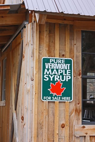 Take some our our delicious wood-fired maple syrup home with you.