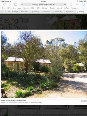 Riesling Trail and Clare Valley Cottages - Clare
