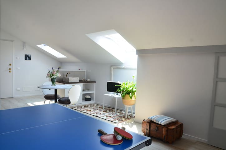 Ping-pong Suite, il design in campagna