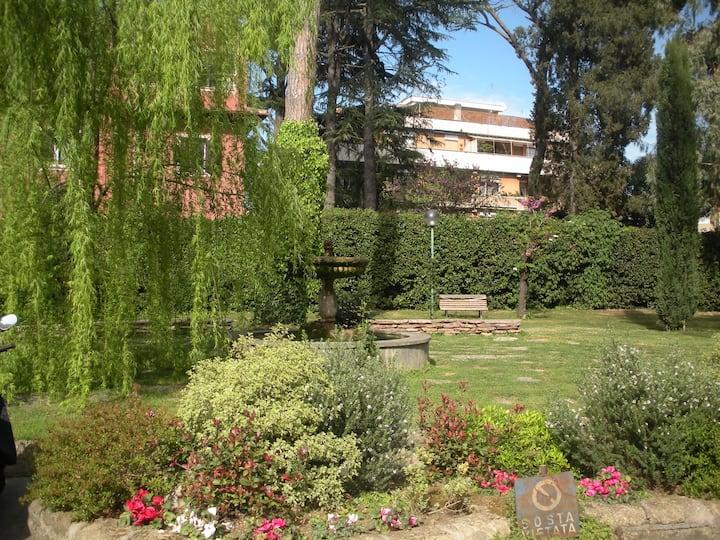 Casa con parco vicino Ponte Milvio