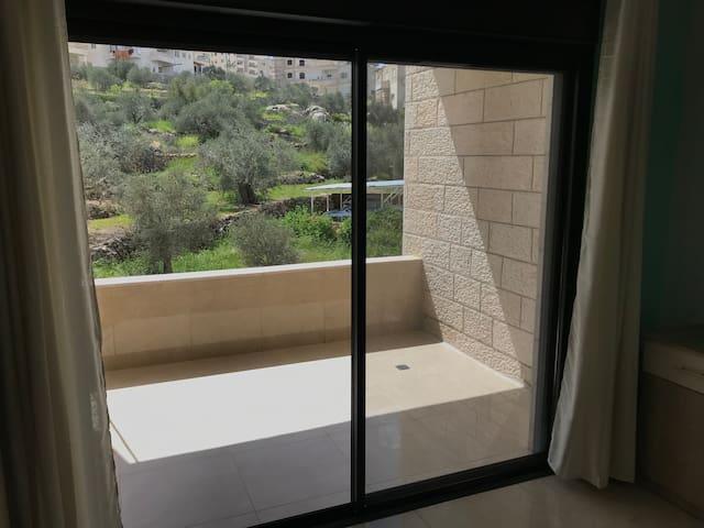 Garden view large terrace , double or twin studio.