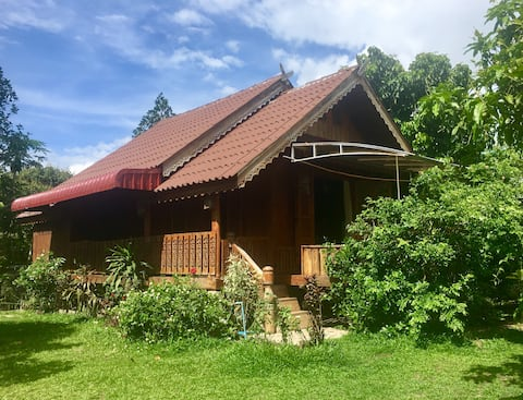 The Teak House AC Private Home Pai Town- 2 bedroom