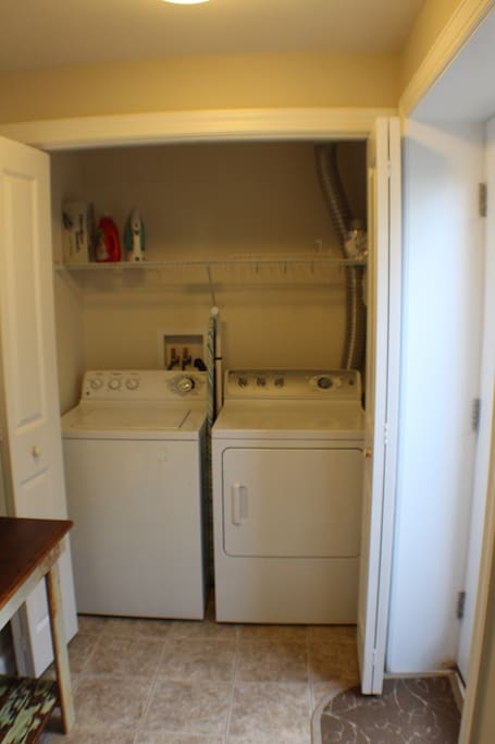 Washer and drawer available for use by our guests.