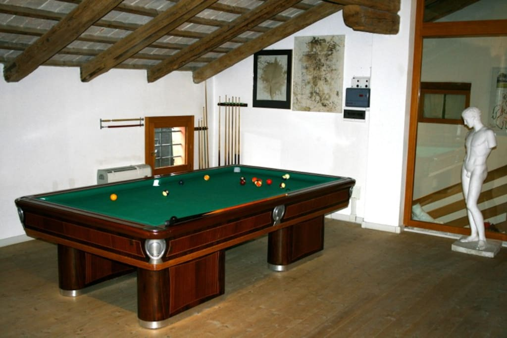 Billiard Table in the Guest Lounge