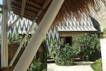 Entrance to villa Payung