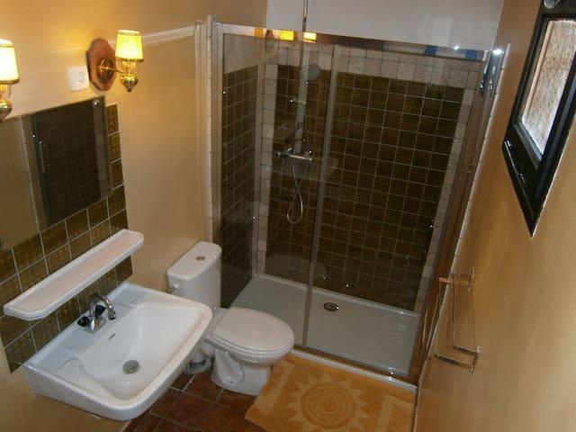 salle de bain traversante de la chambre