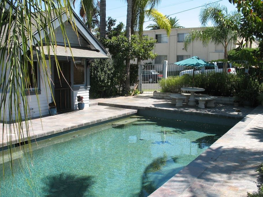 Rear Entrance And Refreshing Swimming Pool