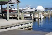 Boat dock at Marina