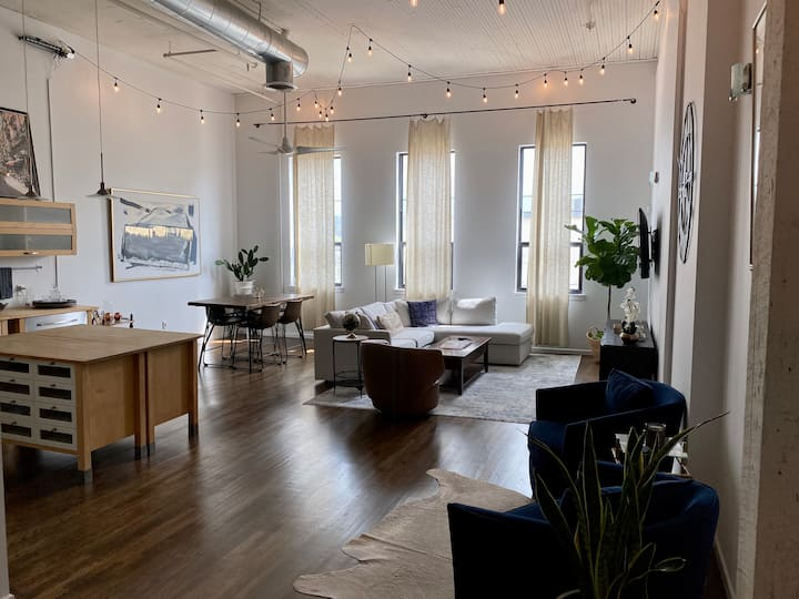 Modern Industrial Downtown Loft
