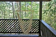 Outdoor hammock chair.