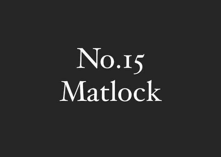 No.15 Matlock: stunning views of the Peak District