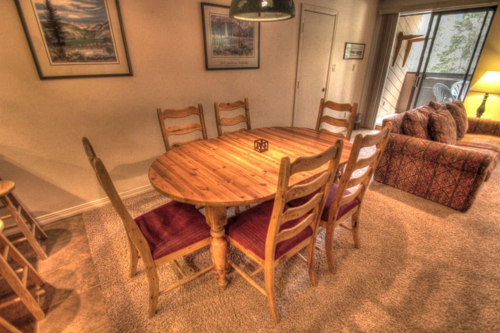 Dining Room - The dining room table seats up to 6 people comfortably.