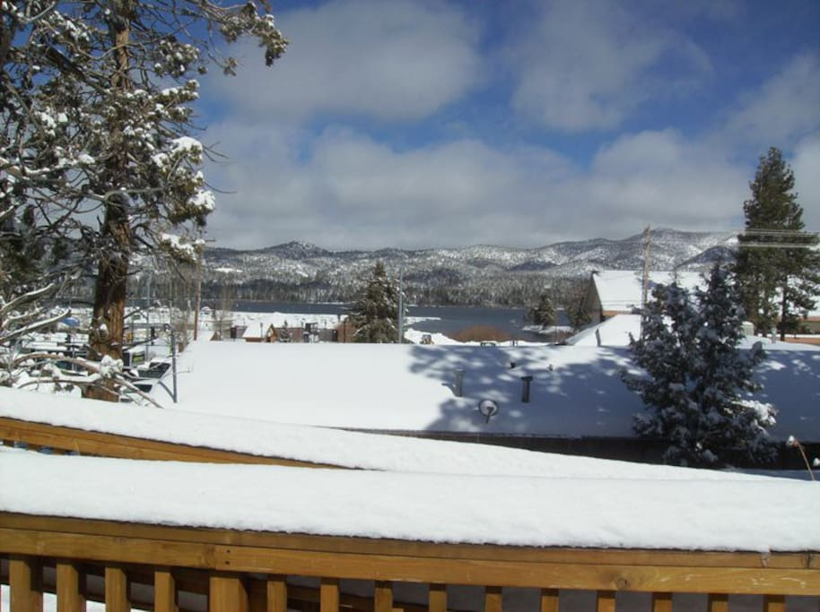 Million $$ lake views from our sun deck!