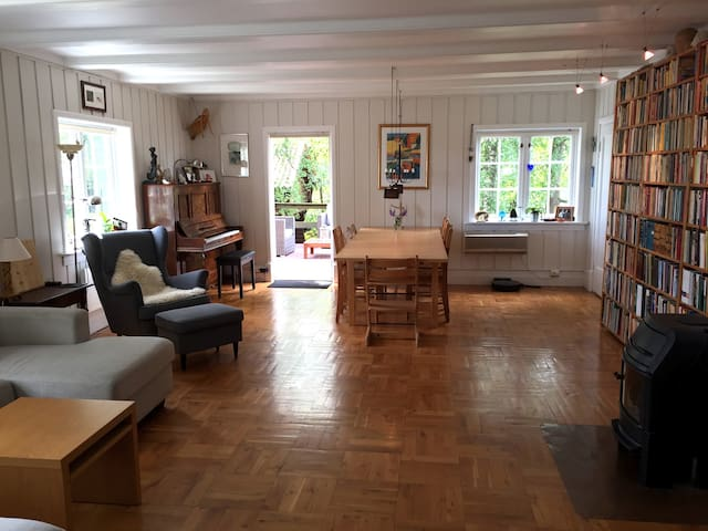 Sunny apartment with garden - close to Oslo centre