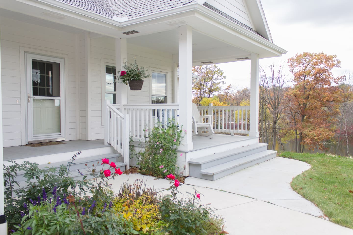 Welcoming porch
