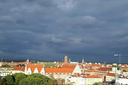 Sky View 126. Stunning window view of Gdansk. - Apartment