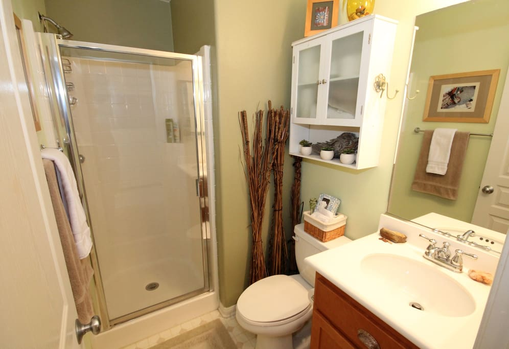 Your private bathroom, right next to your room