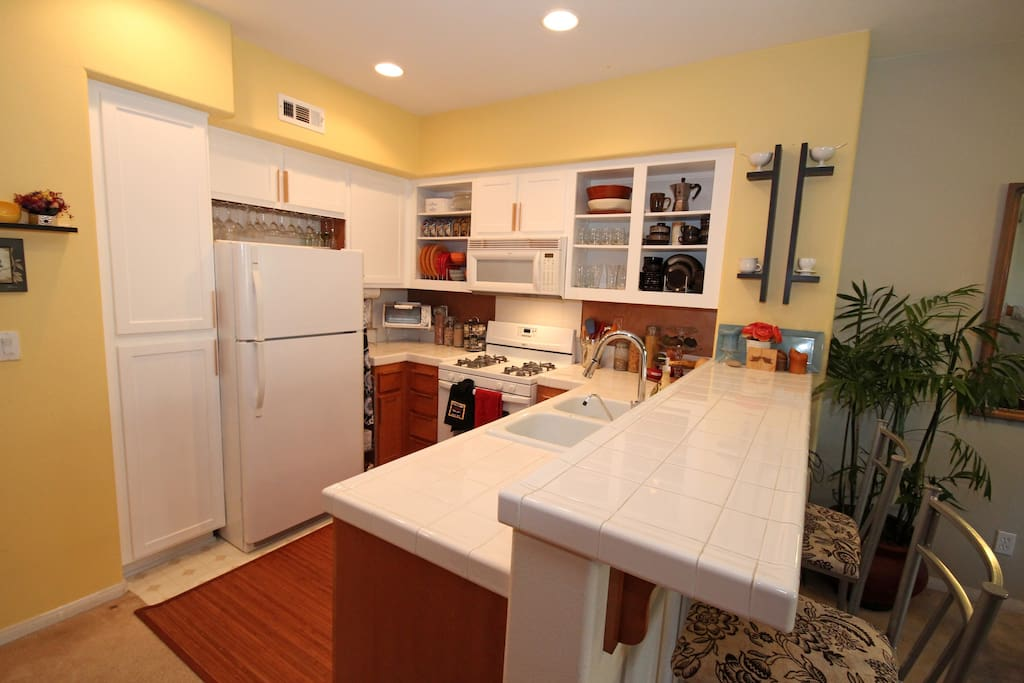 Shared Kitchen with a fridge, microwave, toaster you are welcome to use :)