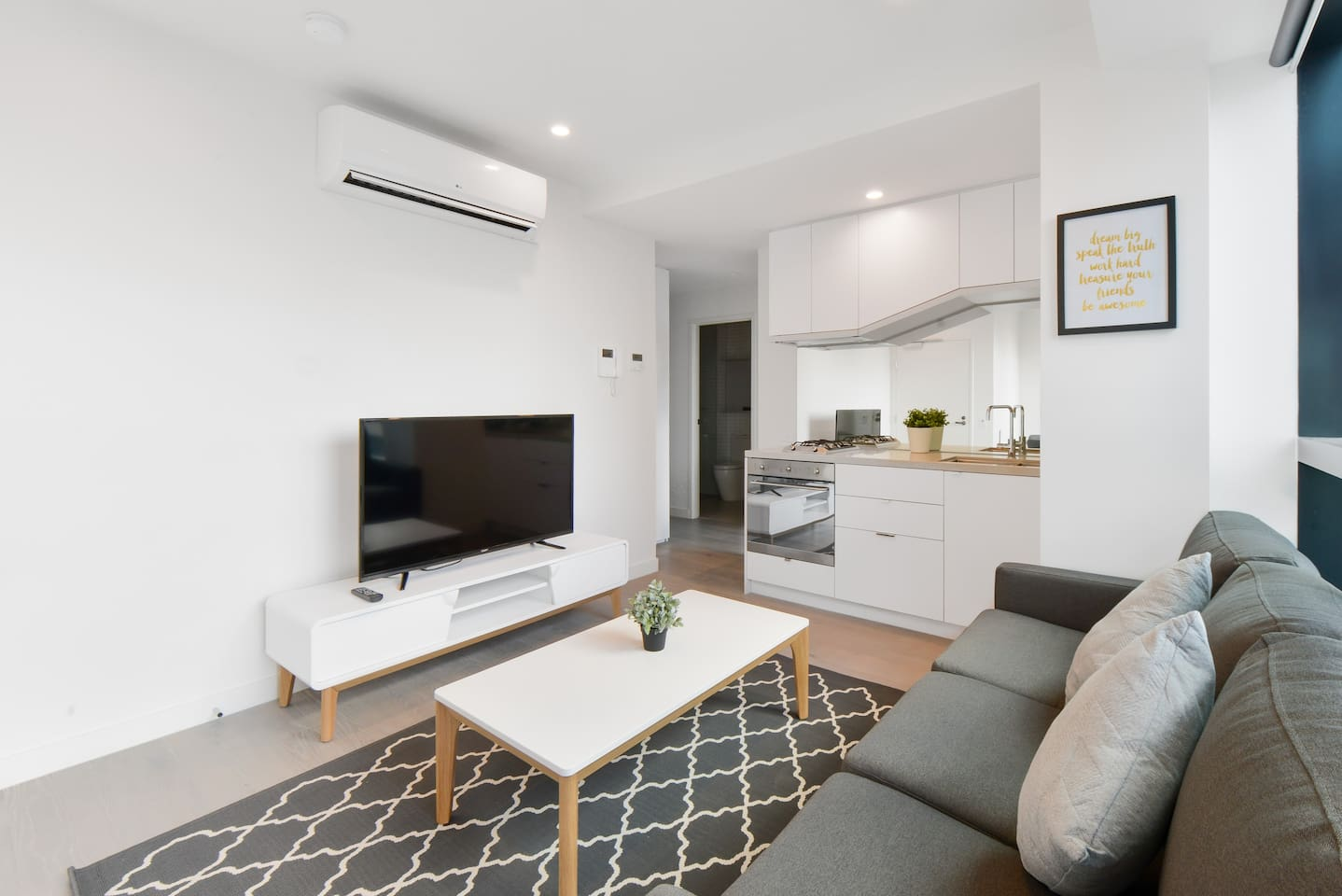Complete amenities for your stay. Furniture may slightly differs from the real ones due to wear and tear. But, all main amenities (Kitchen, living, washing machine/dryer, etc) are still complete and available during stay.