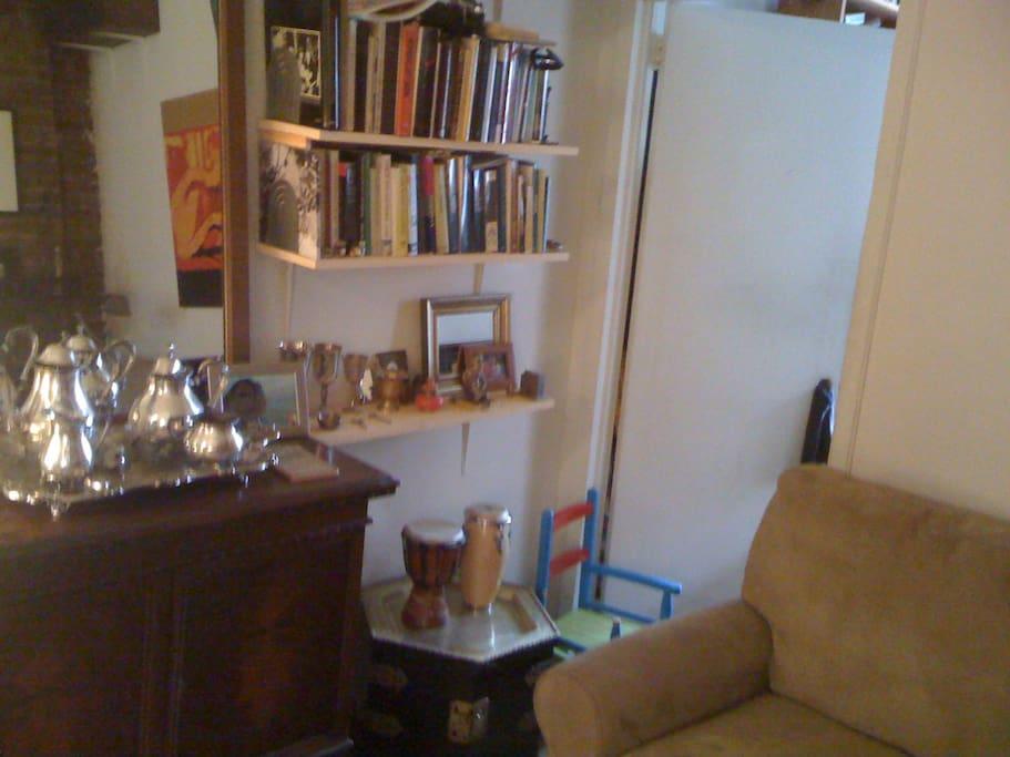 living room into bedroom