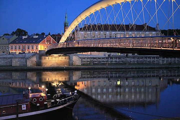 Kładka Bernatka (Love Bridge) is located only two minute walk from the apartment. It's a must see!