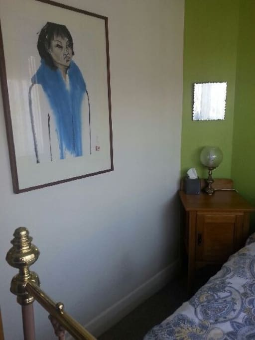 Mirror and original artworks in your room and throughout.