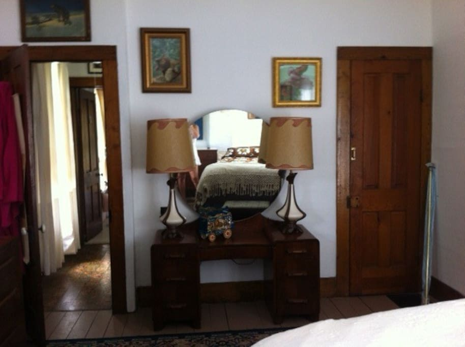 One of the guest rooms. Beautifully decorated with antique furniture.