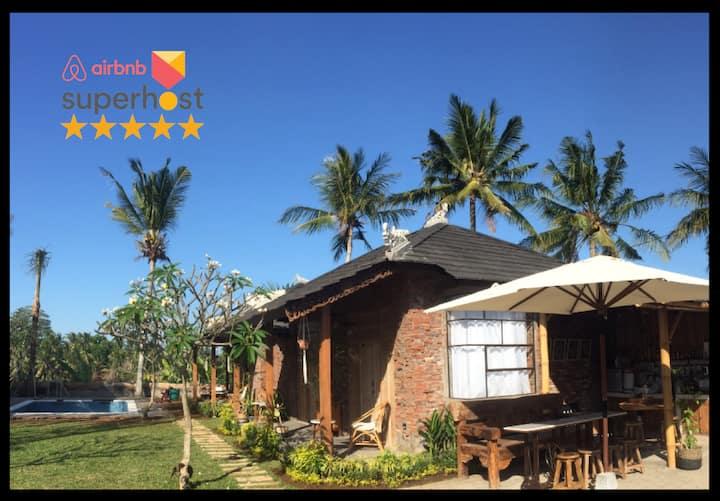 Balitri twin2: swim bike run camp resort in Bali