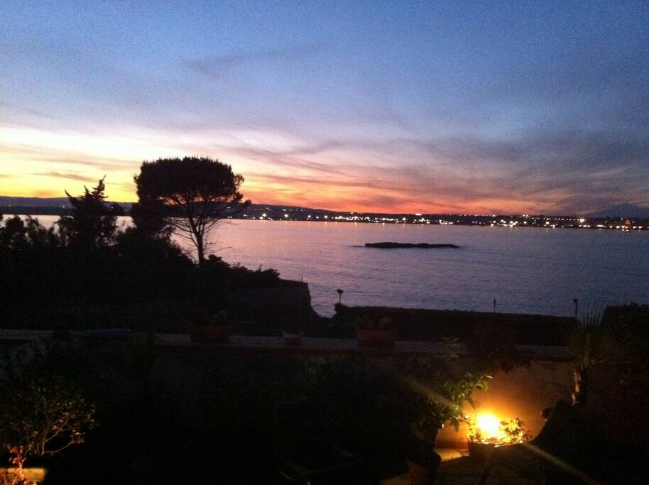tramonto dal terrazzo