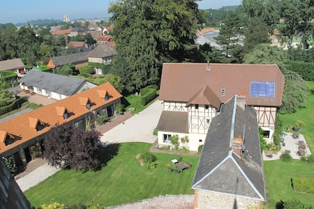 Nuit de reve ds manoir tt confort  - Derchigny - Bed & Breakfast