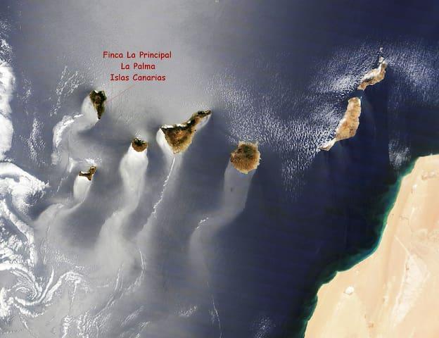 Archipiélago canario. Foto (premiada por la NASA) desde la Estación Espacial Internacional.