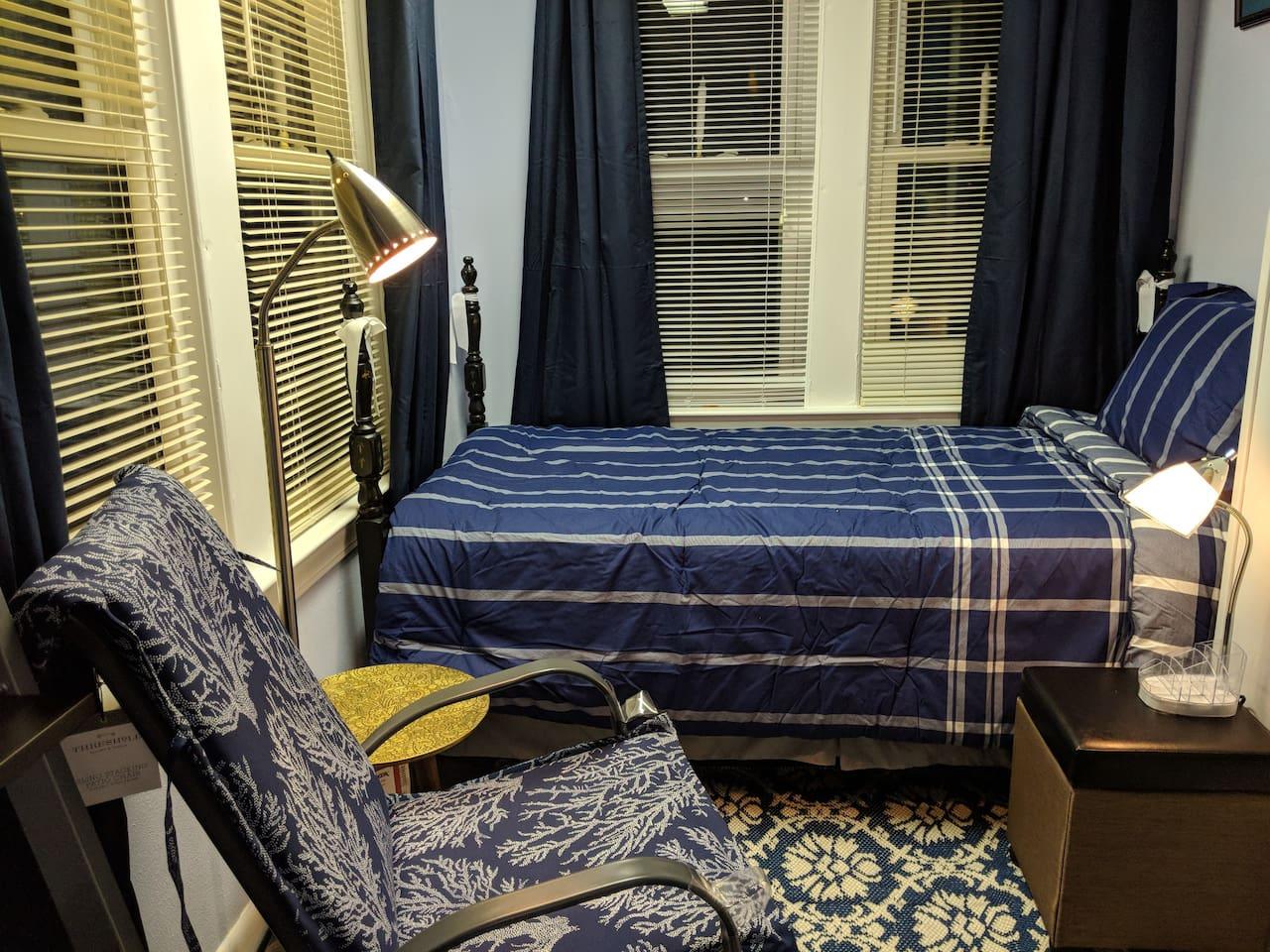 Intimate Ocean Blue Bedroom#1