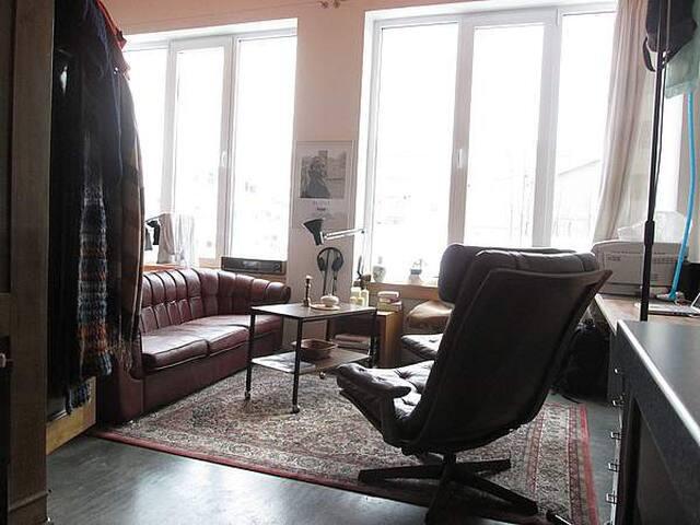 Alte Couch in kleinem Loft - Munich - Loft