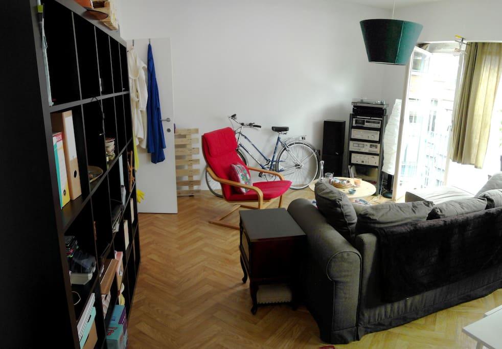 Left side Livingroom - The bathroom is at the bottom left.