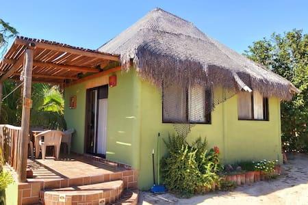 Casa verde 🏠 a 100mtr🏖️🐠 del mar muy relajado