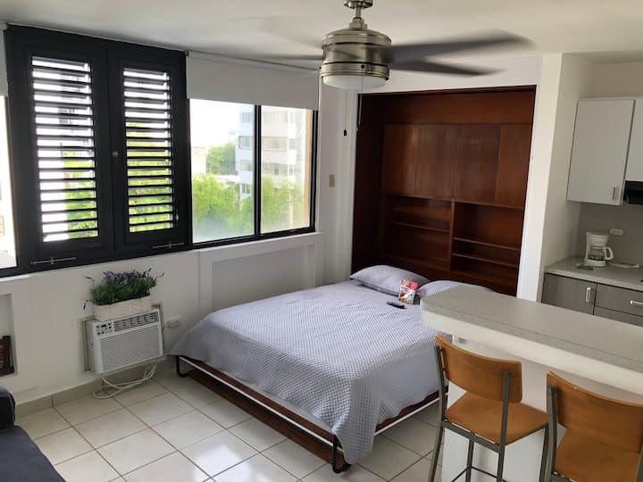 Beach Studio in Condado 1 - minute walk from beach