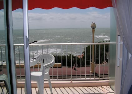 Vue splendide, balcon face mer, Wifi, parking, 3* - Les Sables-d'Olonne - Daire