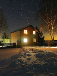 Riverside House in authentic Russian Village - Kashinsky District - Nature lodge