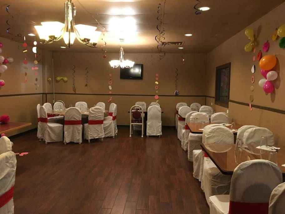 Banquet Hall with furniture rearranged