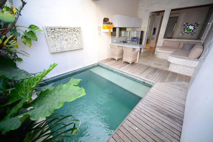 Pool inside house and out side, Bali atmosphere