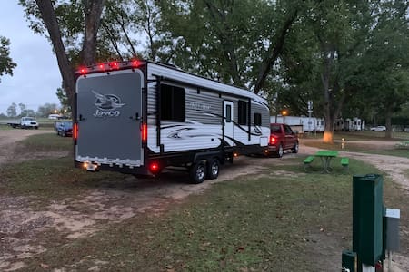 Entire camper: Home is where you park it.