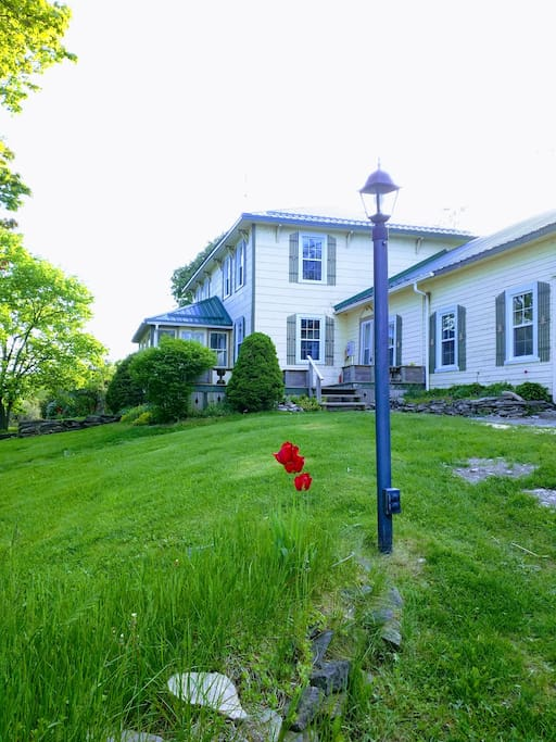 Large colonial farm house with loads of charm and a spectacular view of Smith's Bay and Waupoos Island.