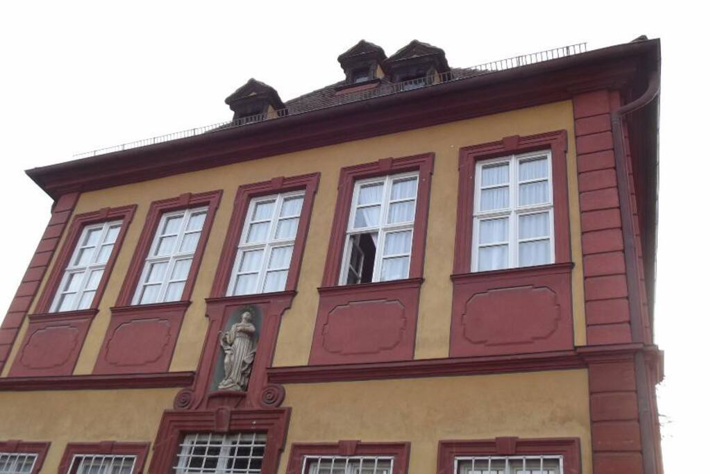 Your bedroom windows in the villa